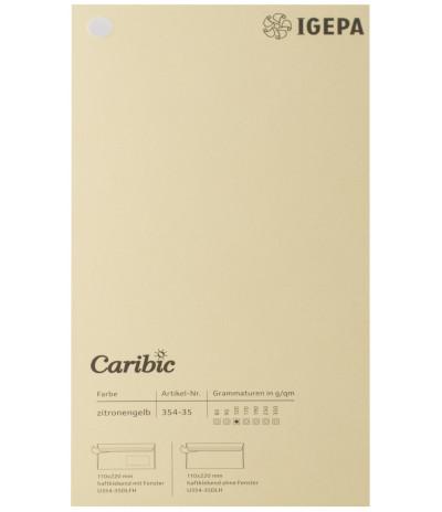 Spalvotas  popierius  Caribic Nr.35 170g/m2 65x92 (gelsvas) 125 lapų pakuotėje