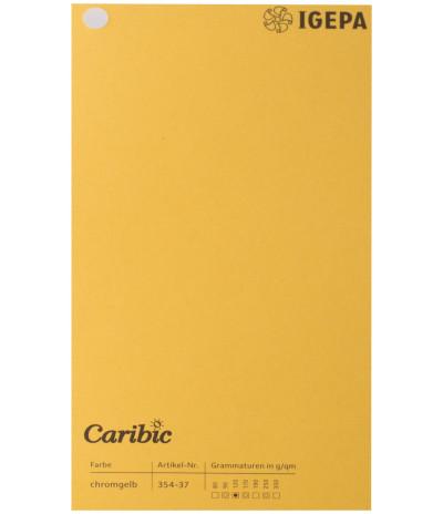 Spalvotas  popierius  Caribic Nr.37 170g/m2 65x92 (geltona) 125 lapų pakuotėje