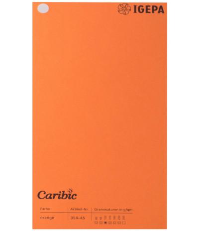 Spalvotas  popierius  Caribic Nr.45 170g/m2 65x92 (matinė oranžinė) 125 lapų pakuotėje