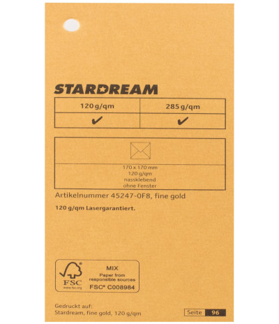Metalizuotas popierius Stardream fine gold 120g/m2 72x102 cm aukso spalvos