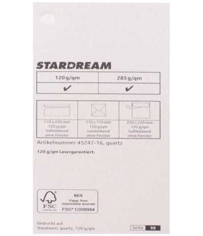Metalizuotas popierius Stardream quartz 285g/m2 72x102 cm kvarco sp.