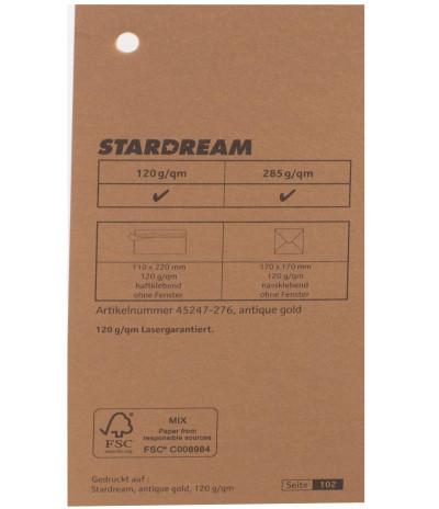 Metalizuotas popierius Stardream antique gold 285g/m2 Nr. 276 aukso sp.