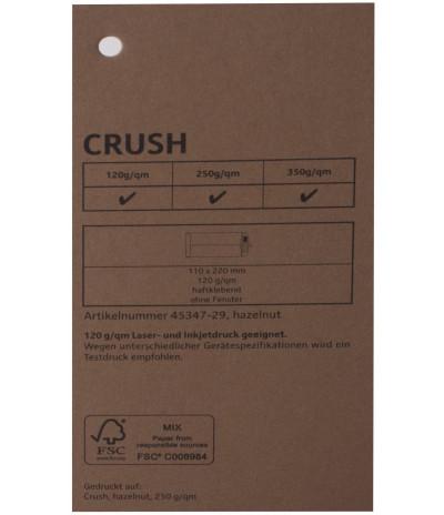 Spalvotas tekstūrinis dizaino popierius  CRUSH hazelnut 72x102cm 250g/m²