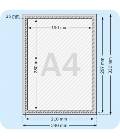 Užspaudžiami aliuminio rėmeliai A4