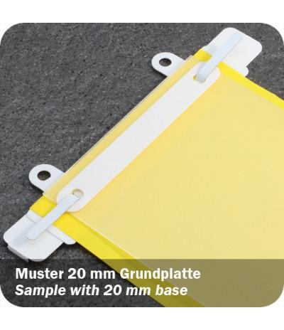 Plastikinės savilipės įsegėlės su papildoma dalimi įsegimui 150 x 16mm, baltos