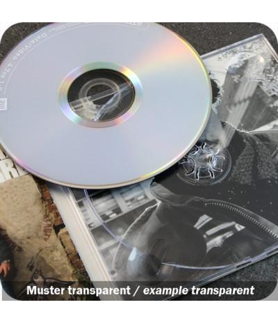 Plastikinis CD/DVD dėklas, skaidrus