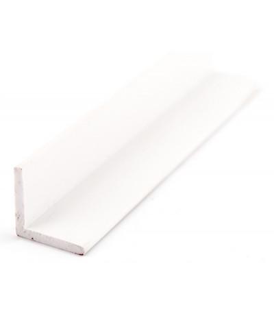 PVC profilis L 15mm*15mm*2mm baltas 314 3000mm