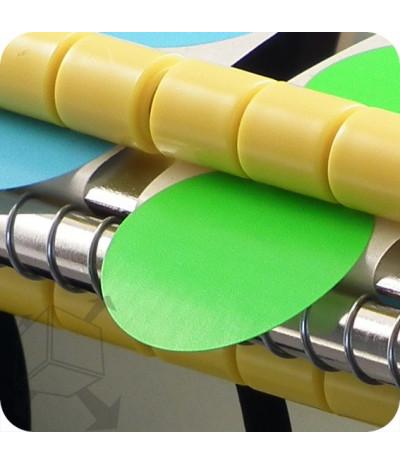 Lipnių apskritimų laikiklis su 1 vnt reguliuojamu rulonų laikikliu, max rulono diametras 113mm