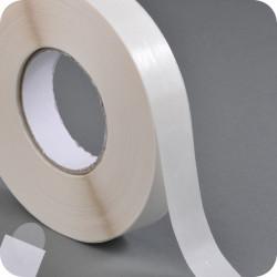 Lipnūs vienpusiai apskritimai ø - 20mm, skaidrūs, su perforacija, 1000vnt.