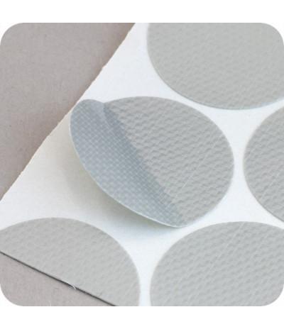 Tekstiliniai lipnūs vienpusiai apskritimai ø - 30mm, sidabro sp., 1000vnt.