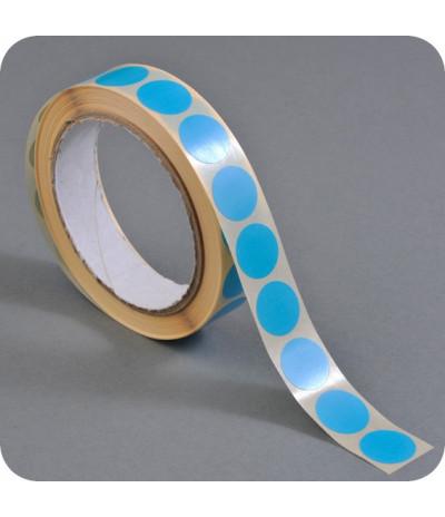 Lipnūs vienpusiai apskritimai ø - 13mm, šv.mėlynos sp., 1000vnt