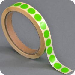 Lipnūs vienpusiai apskritimai ø - 13mm, šv.žalios sp.