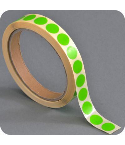Lipnūs vienpusiai apskritimai ø - 13mm, šv.žalios sp., 1000vnt
