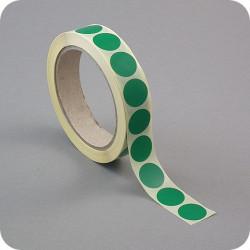 Lipnūs vienpusiai apskritimai ø - 13mm, tm.žalios sp.