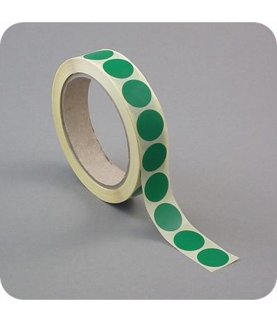 Lipnūs vienpusiai apskritimai ø - 13mm, tm.žalios sp., 1000vnt