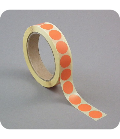 Lipnūs vienpusiai apskritimai ø - 13mm, oranžinės sp., 1000vnt