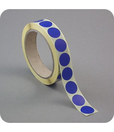 Lipnūs vienpusiai apskritimai ø - 20mm, tm.mėlynos sp., 1000vnt