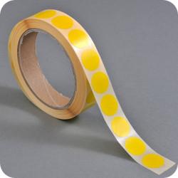 Lipnūs vienpusiai apskritimai ø - 20mm, geltonos sp.