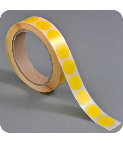Lipnūs vienpusiai apskritimai ø - 20mm, geltonos sp., 1000vnt