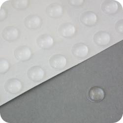 """Lipnūs silikono kalneliai """"Bumpons"""" ø - 6,4mm, 1,9mm storio, savilipiai, skaidrūs, pusrutulio formos"""