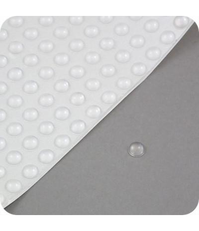 """Lipnūs silikono kalneliai """"Bumpons"""" ø - 10mm, 3,2mm storio, savilipiai, skaidrus, pusrutulio formos"""
