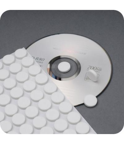 Poroloniniai lipnūs CD laikikliai, DN-16mm, storis 3,5mm baltos sp.