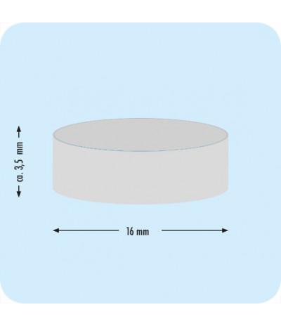 Poroloniniai lipnūs CD laikikliai, DN-16mm, storis 3,5mm juodos sp.