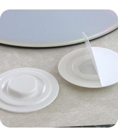 Plastikiniai lipnūs CD laikikliai DN-35mm, baltos sp.