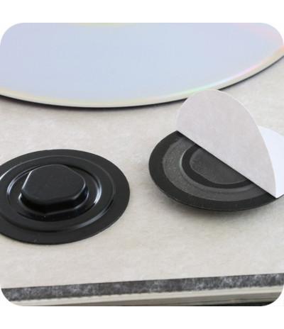 Plastikiniai lipnūs CD laikikliai DN-35mm, juodos sp.