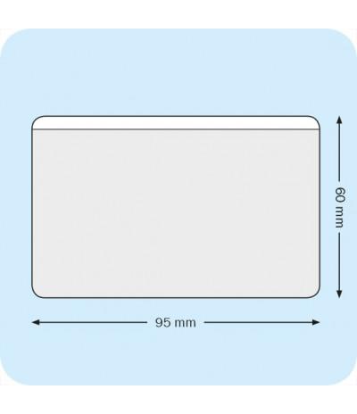 Lipnios įmautės vizitinėm kortelėm 9,5cm x 6cm be išpjovos, skaidrios