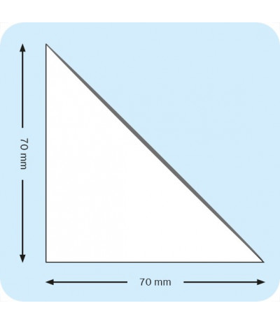 Lipnios trikampės įmautės 7cm x 7cm, skaidrios