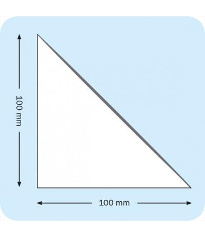 Lipnios trikampės įmautės 10cm x 10cm, skaidrios