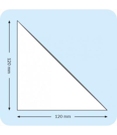 Lipnios trikampės įmautės 12cm x 12cm, skaidrios