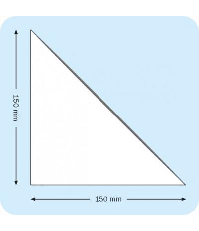 Lipnios trikampės įmautės 15cm x 15cm, skaidrios
