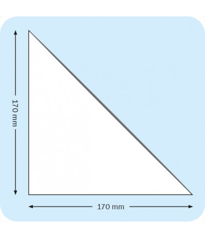 Lipnios trikampės įmautės 17cm x 17cm, skaidrios