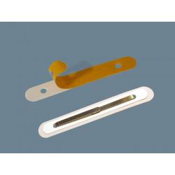 Įsegėlė savilipė (balta), 18mm pločio, 110mm ilgio, ovali