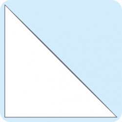 Lipnios trikampės įmautės 20x20 cm, skaidrios