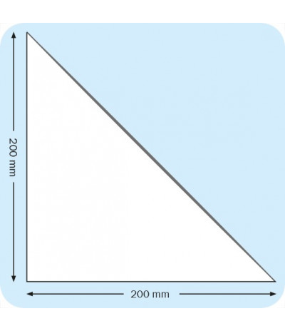 Lipnios trikampės įmautės 20cm x 20cm, skaidrios