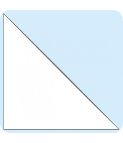 Lipnios trikampės įmautės 21cm x 21cm, skaidrios