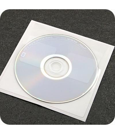 Lipnios CD įmautės 129mm x 130mm, su atvartu, skaidrios