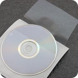 Lipnios CD įmautės 129x130mm, su atvartu, skaidrios