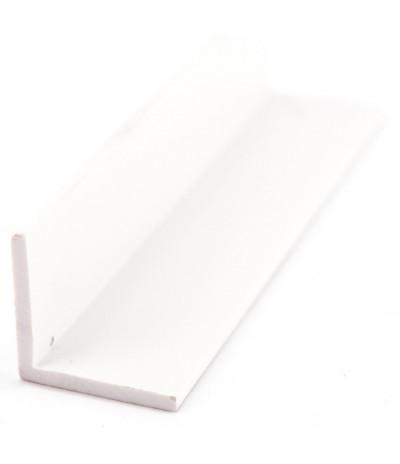 PVC profilis L 20mm*20mm*2mm baltas 420 3000mm